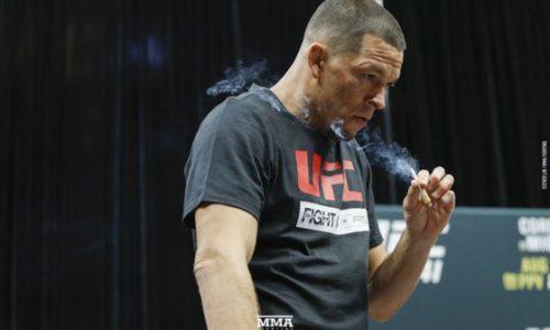 Nate Diaz a fumat o țigară la antrenament