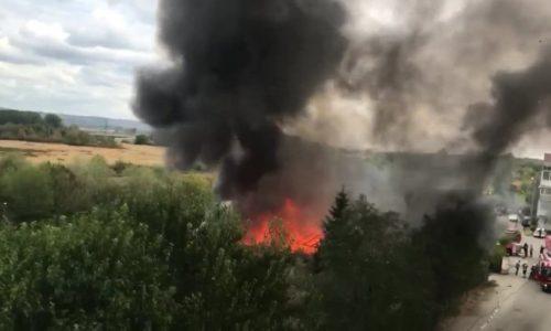 În orașul Pitești a avut loc un incediu foarte mare